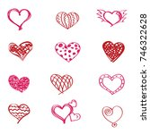 creative elements for valentine ... | Shutterstock .eps vector #746322628