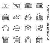 thin line icon set   hierarchy  ...   Shutterstock .eps vector #746322649