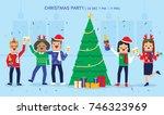 illustration vector office ugly ... | Shutterstock .eps vector #746323969