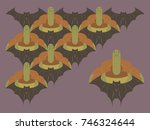 a loopable vector of turtles... | Shutterstock .eps vector #746324644
