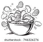 potato chips | Shutterstock .eps vector #746326276