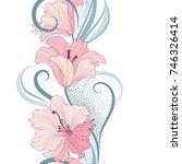 floral seamless pattern. flower ... | Shutterstock .eps vector #746326414
