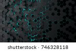 abstract technological... | Shutterstock . vector #746328118