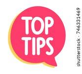 top tips. vector icon  badge...   Shutterstock .eps vector #746331469
