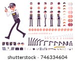 fbi agent character creation... | Shutterstock .eps vector #746334604