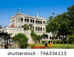 Aga Khan Palace In Bright Sunn...