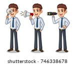 set of businessman in shirt... | Shutterstock .eps vector #746338678