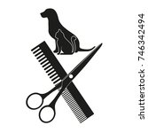 hairstyle of dogs and cats on a ... | Shutterstock .eps vector #746342494