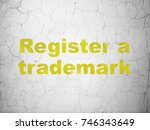 law concept  yellow register a... | Shutterstock . vector #746343649