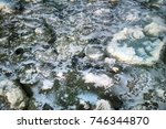 pancake ice on the gulf of... | Shutterstock . vector #746344870