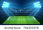 soccer stadium with empty... | Shutterstock .eps vector #746353378