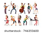 rock and pop musicians vector... | Shutterstock .eps vector #746353600