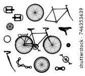 bike parts. bicycle equipment... | Shutterstock .eps vector #746353639