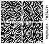 african zebra stripes vector... | Shutterstock .eps vector #746353714