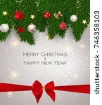 abstract beauty christmas and... | Shutterstock .eps vector #746358103