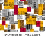 seamless abstract bright... | Shutterstock . vector #746362096