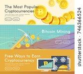 bitcoin digital money ... | Shutterstock .eps vector #746366524