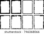 vector frames. rectangles for... | Shutterstock .eps vector #746368066