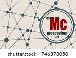 moscovium chemical element.... | Shutterstock .eps vector #746378050