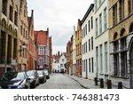 bruges  belgium  28 sep 2017 ... | Shutterstock . vector #746381473
