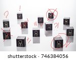 selection and analysis... | Shutterstock . vector #746384056