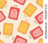 colorful modern valise seamless ... | Shutterstock .eps vector #746387113
