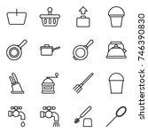 thin line icon set   basket ... | Shutterstock .eps vector #746390830