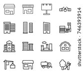 thin line icon set   shop ... | Shutterstock .eps vector #746393914