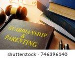 book about guardianship  ... | Shutterstock . vector #746396140