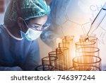 scientist working in the...   Shutterstock . vector #746397244