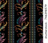 striped embroidery baroque...   Shutterstock .eps vector #746398579