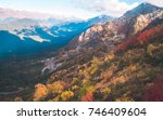 colorful autumn forests... | Shutterstock . vector #746409604