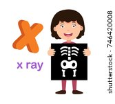 illustration isolated alphabet... | Shutterstock .eps vector #746420008