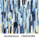 abstract art background with... | Shutterstock . vector #746431084