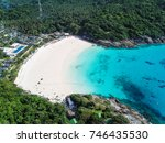 top aerial view from drone of... | Shutterstock . vector #746435530