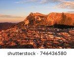 sunset in the buila vanturarita ... | Shutterstock . vector #746436580