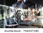 iot  automation  industry 4.0.... | Shutterstock . vector #746437180