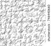 handwritten abstract text.... | Shutterstock .eps vector #746440660