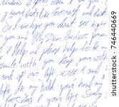 handwritten text with love... | Shutterstock .eps vector #746440669