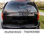 Car's Rear Window Rear View Of...