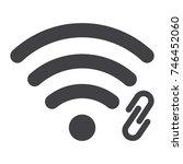wifi hotspot glyph icon  web... | Shutterstock .eps vector #746452060