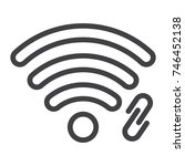 wifi hotspot line icon  web and ... | Shutterstock .eps vector #746452138