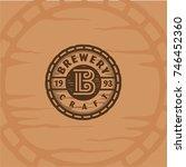 brewery craft logo | Shutterstock .eps vector #746452360