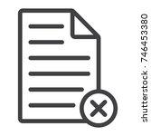delete document line icon  web... | Shutterstock .eps vector #746453380