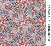 cartoon handdrawn handmade... | Shutterstock .eps vector #746454319