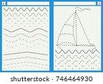 preschool worksheet for...   Shutterstock .eps vector #746464930