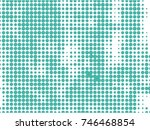 abstract dotted halftone... | Shutterstock .eps vector #746468854