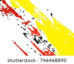 vector grunge paint brush .... | Shutterstock .eps vector #746468890