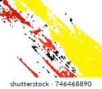 vector grunge paint brush .... | Shutterstock .eps vector #746468890
