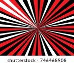 radiating  converging lines ... | Shutterstock .eps vector #746468908